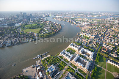 Old Royal Naval College and Isle of Dogs