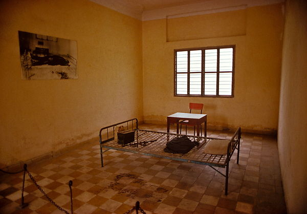 Prisioners cells at Tuol Sleng