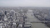 Aerial footage of 20 Fenchurch Street, London Bridge and The Shard