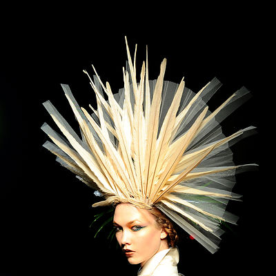 Jean-Paul Gaultier, spring-summer 2010 Haute Couture fashion show Paris.