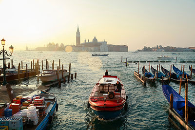 Italy, Venice, morning light at the Canal Grande