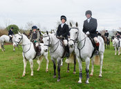 Evie Wise, Zara Wise, Dick Wise At the meet. The Cottesmore Hunt at Bleak House 18/12