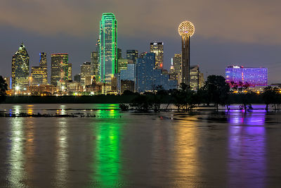 Dallas Skyline Reflected in the Trinity