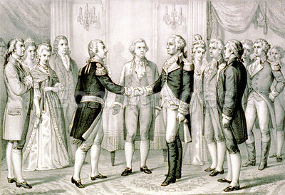George Washington meets Marquis de Lafayette