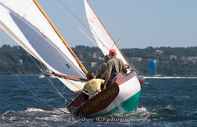 Surprise pursues Argument across Narragansett Bay during the 2005 Herreshoff Rendezvous