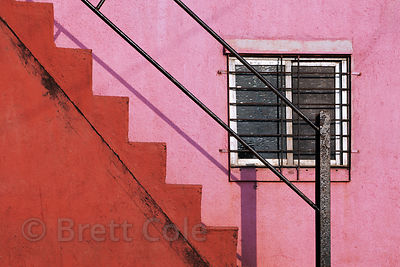 Stairway in Worli, Mumbai, India.