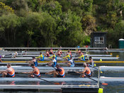 Taken during the World Masters Games - Rowing, Lake Karapiro, Cambridge, New Zealand; ©  Rob Bristow; Frame 417 - Taken on: T...