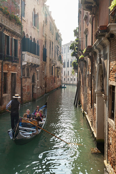 Italy, Venice, Canal in the Cannaregio District