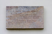 Memorial plaque to Gregor Mendel