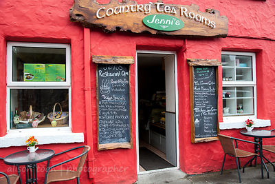 Tea shop in the village of Cong, home of The Quiet Man, Ireland