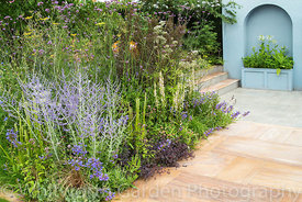 The Viking Cruises World of Discovery Garden  at the RHS Hampton Court Flower Show 2017. Designer: Paul Hervey-Brookes. Spons...