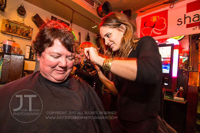 """Bald is the New Beautiful Head Shaving Event"" held at the Dublin Underground bar in downtown Iowa City on Thursday November ..."