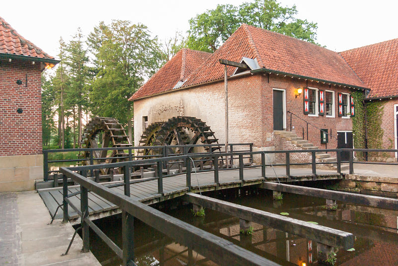 Watermill near river Dinkel at Singraven Estate, Denekamp