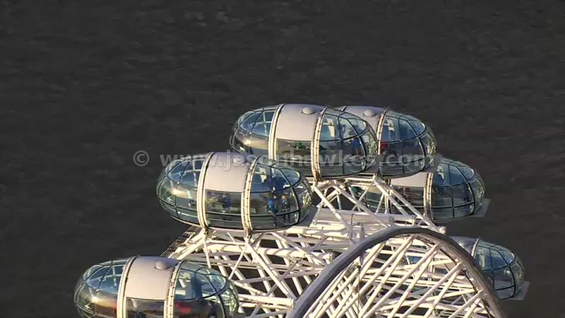 Aerial footage of the London Eye