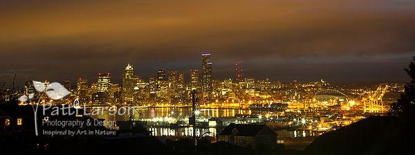 Seattle Skyline at Night..
