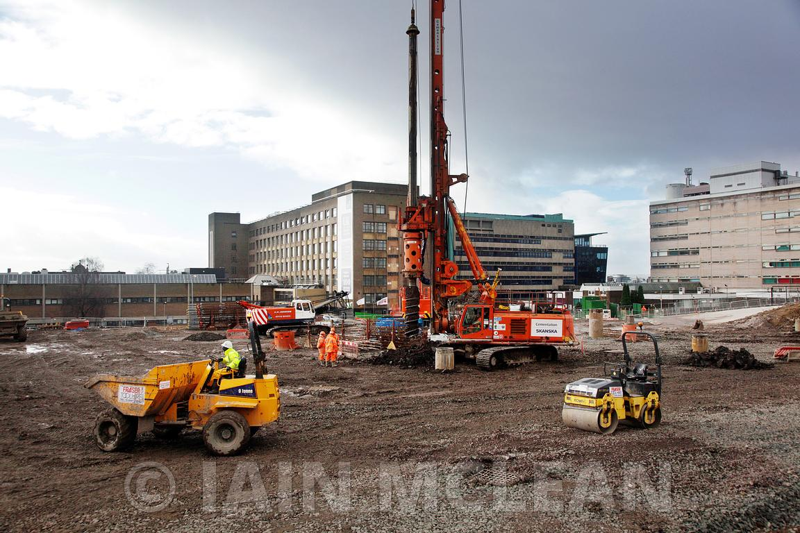 Glasgow, Scotland..4.3.14.Construction at 2 new campus of the City of Glasgow College...Free Use for Scottish Futures Trust.M...