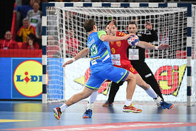during the EHF EURO Croatia 2018 - Preliminary round -  Group C - Fyr Macedonia vs Slovenia in Arena Zagreb, Zagreb, Croatia...