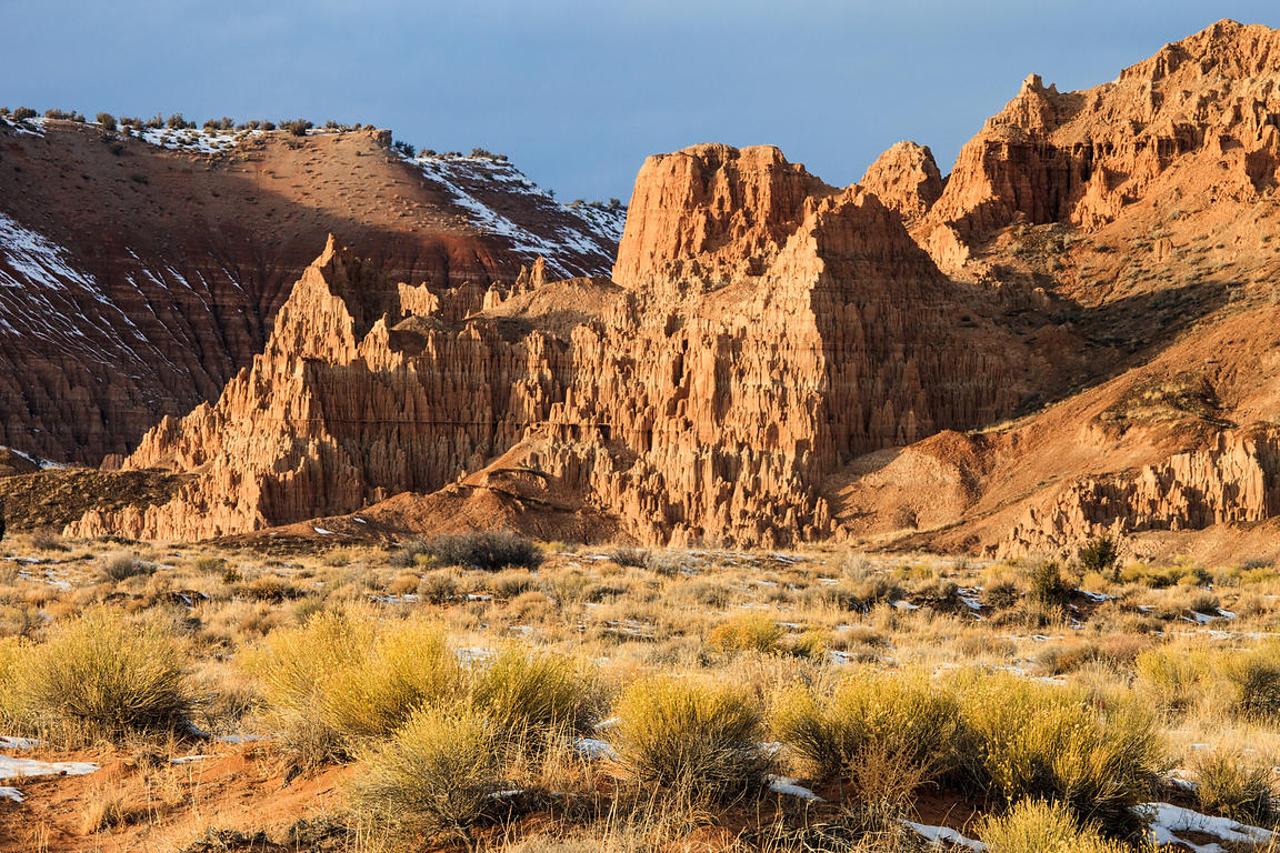 Rugged features of Cathedral Gorge