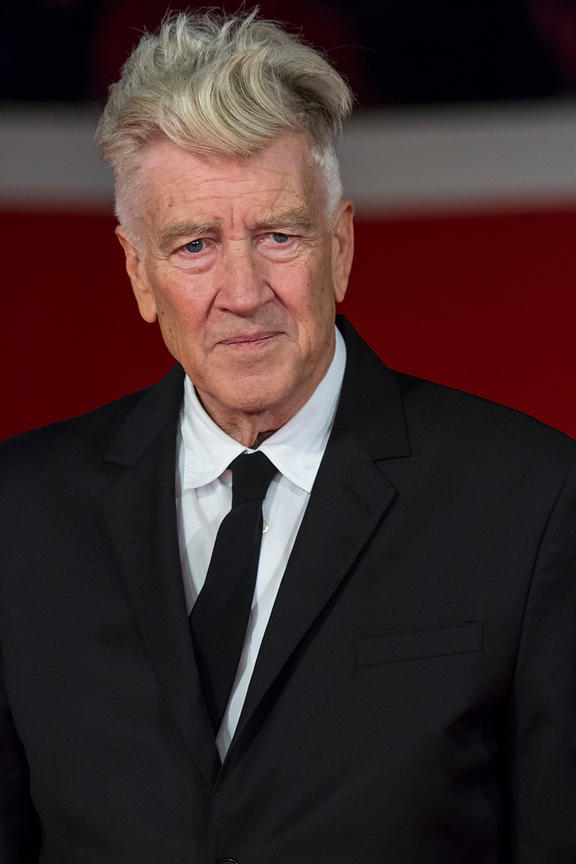 David Lynch on the red carpet before speaking before about his career at the Rome International Film Festival, , Rome Italy, ...