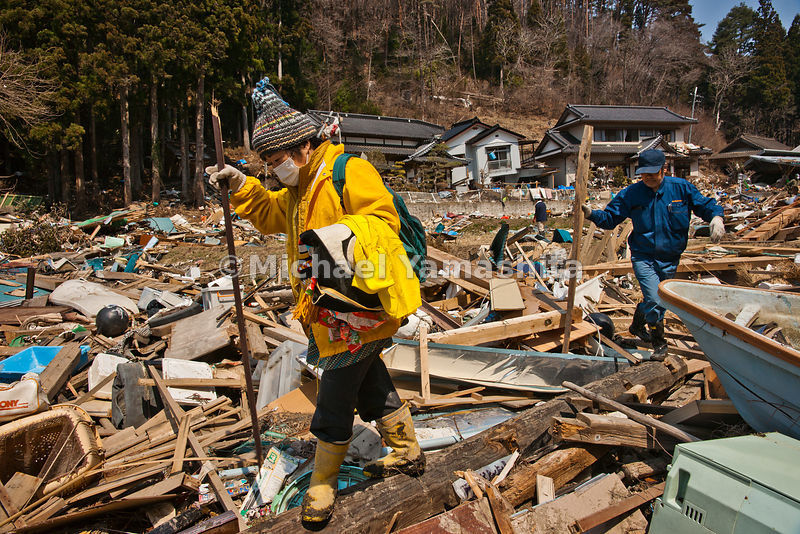 March 11 Great Eastern Japan Earthquake and Tsunami. Measuring 9, biggest ever to hit Japan destroying the NE coast line citi...