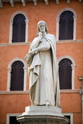 Italy - Verona - A statue of Dante in the Piazza dei Signori
