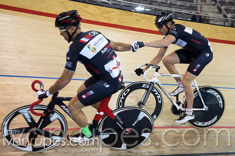 Men's Madison. 2015 Canadian Track Championships