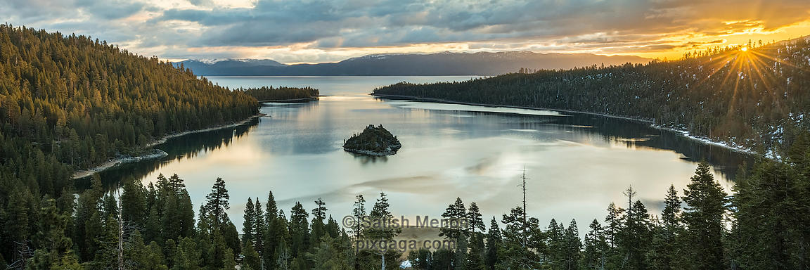 Sunrise at Emerald Bay, South Lake Tahoe, CA, USA