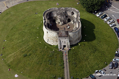 aerial photograph of Clifford's Tower, York Castle