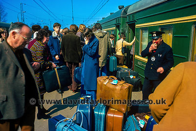Moscow-Leningrad train | Moscow station | March 1976