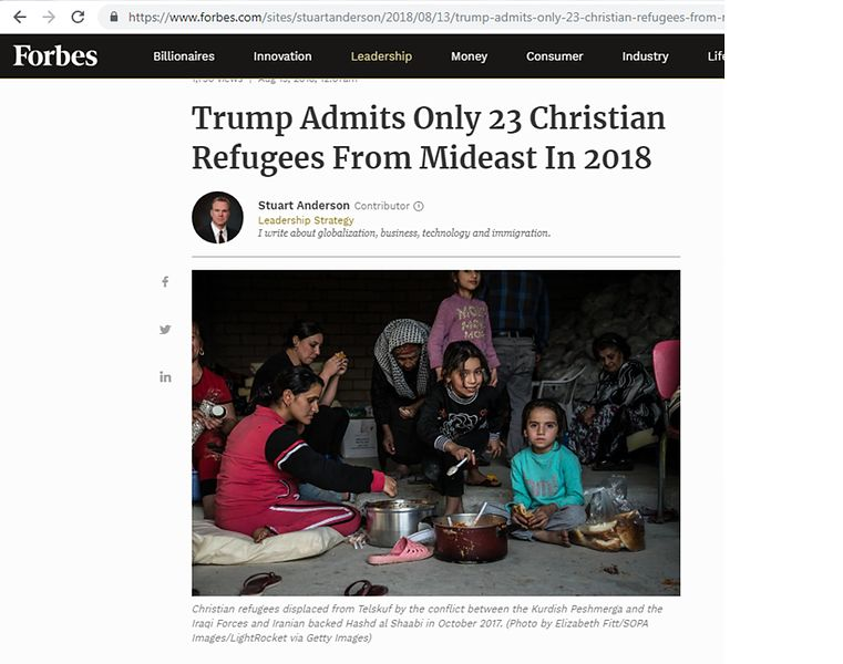 Forbes_TrumpAdmitsOnly23ChristianRefugees