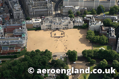 aerial photograph of Horse Guards Parade  London UK