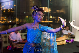 A portrait of a performer at The Peninsula Hotel in Bangkok, Thailand.