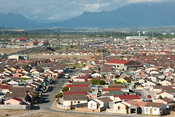 View over Khayelitsha, the largest township in SA, Cape Town, South Africa