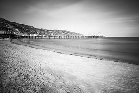 Surfrider Beach Black and White Photo