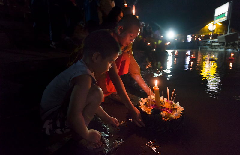 Loy Krathong in Nong Khai