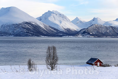 Winter landscape of Norway