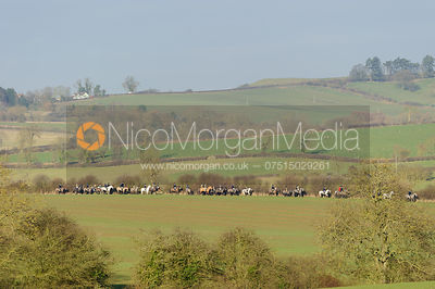 The Cottesmore Hunt at Burrough House 16/12