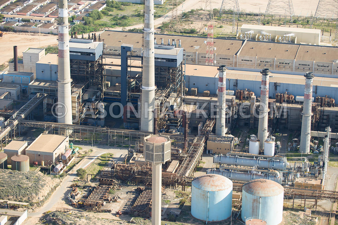 Aerial view of oil depot, Libya