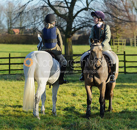 Followers at the  Belvoir Hunt meet at Eaton Grange 2/1