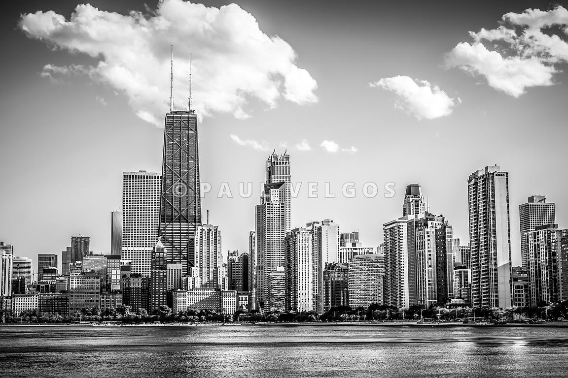Chicago Skyline Picture in Black and White