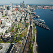 Olympic Sculpture Park, Waterfront and Skyline, Seattle