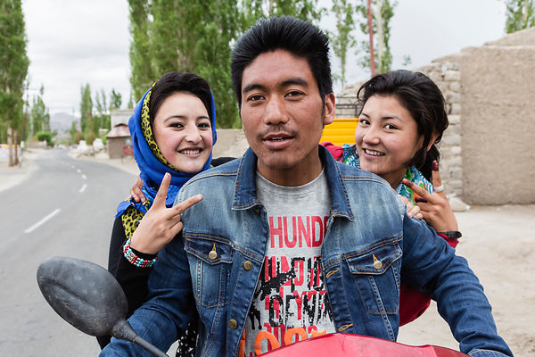 Ladakhi Hipsters on a Scooter.