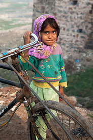 Girl in Bharatpur, Rajasthan, India