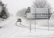 Brough, A66 Junction, Cumbria in severe winter conditions, February 2008