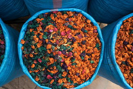 Dried flowers in the medina Marrakech, Morocco.