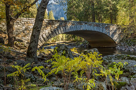 Pohono Bridge over the Merced River in Yosemite Valley
