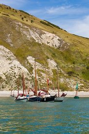 Drascombe rally in Lulworth Cove, 201707070175
