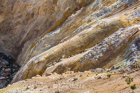Dramatic Colors of Soil at Sulphur Works in Lassen Volcanic National Park