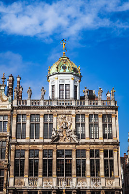 Baker's Guild in the Grand Place in Brussels Belgium