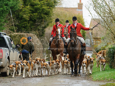 The Belvoir Hunt at Springfield Farm 25/2